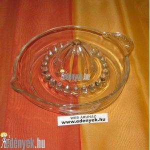 Üveg citromfacsaró 16 cm átmérővel