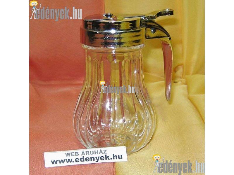 Üveg mézkiöntő és adagoló 230 ml