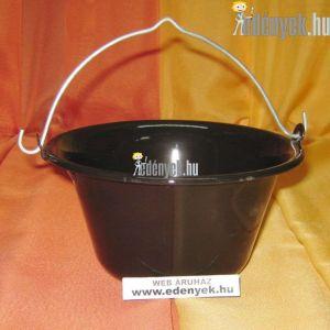 Zománcozott fekete tálaló bogrács 0,70 literes