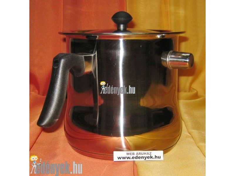 Indukciós tejforraló fedővel 2,50 literes