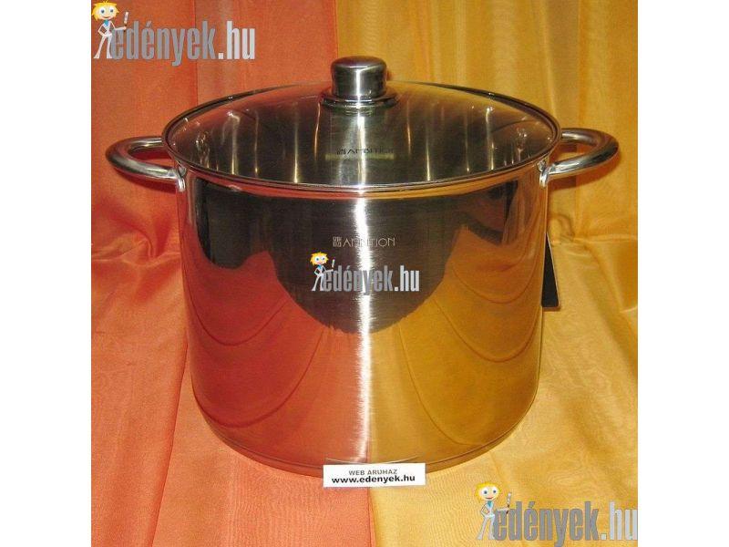 Indukciós rozsdamentes fazék 13,5 literes