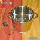 Indukciós rozsdamentes fazék 8,50 literes