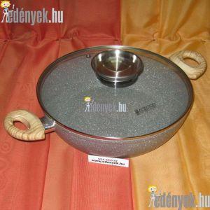 Gránitbevonatos indukciós serpenyő aromafedővel 3,80 liter