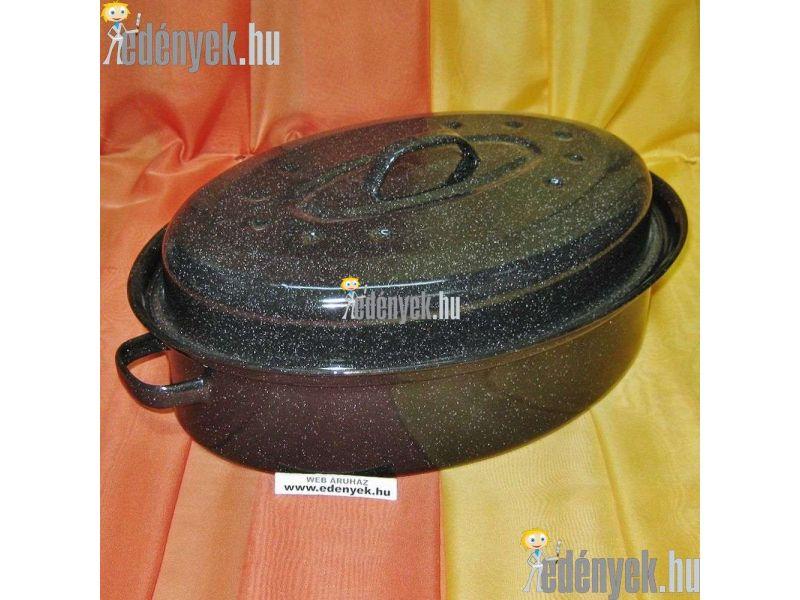 Zománcozott kacsasütő 34 cm ovális