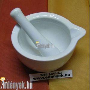 Porcelán mozsár mozsártörővel kicsi