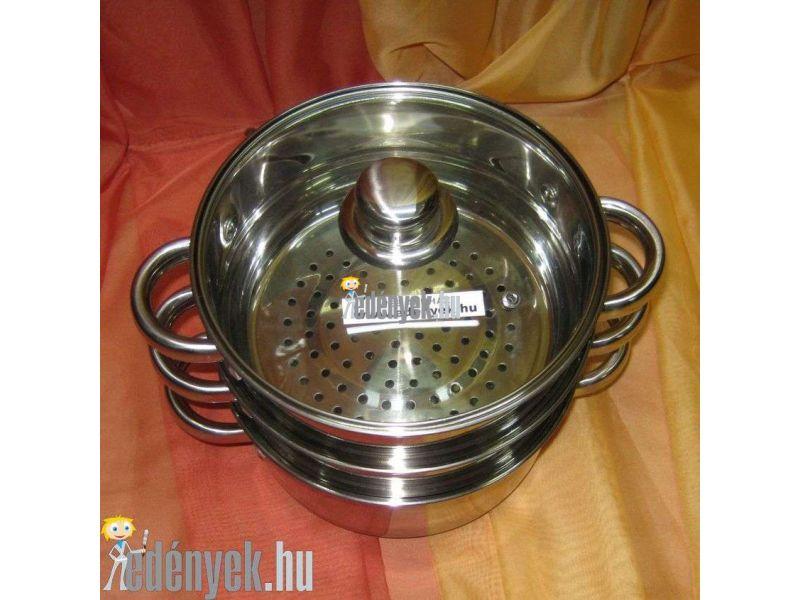 Indukciós pároló edény 4 részes 2 literes