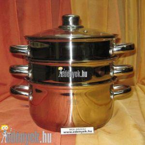 Indukciós pároló edény 4 részes 2,6 literes