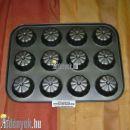 Cirádás muffin sütőforma 12 db-os