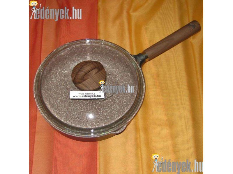 Gránitbevonatos indukciós serpenyő üvegfedővel 24 cm