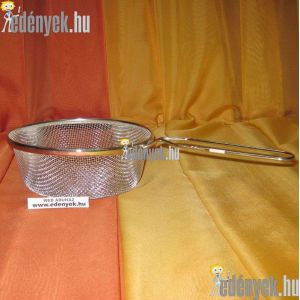 Sütőkosár, szűrőkosár rozsdamentes 18 cm
