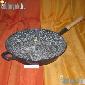Zománcozott nyeles szeletsütő füllel 30 cm