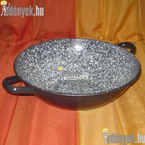 Zománcozott wok 30 cm átmérővel
