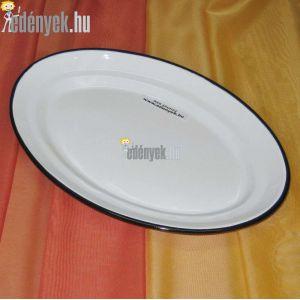 Zománcozott ovális tálaló tányér 35 cm